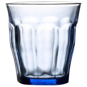 Picardie Marine Blue Tumblers Set of 6 250ml Glasses from Duralex, 250 Ml