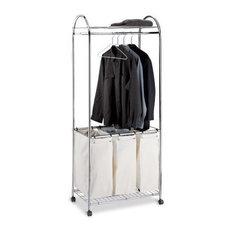 Rolling Laundry Basket - Triple Sorter