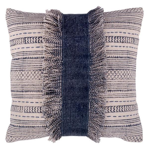 Zanzibar Square Throw Pillow In Ivory