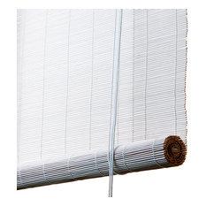 Fine Bamboo Roller Blind, White, 160x100 Cm