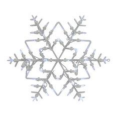 "Northlight Seasonal - 18"" Lighted Snowflake Christmas Window Silhouette Decoration - Holiday Lighting"