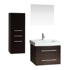 KOKOLS - 28  Single Wall Mount Bathroom Vanity Cabinet Set - Bathroom Vanities and Sink  sc 1 st  Houzz & 28-Inch Bathroom Vanities | Houzz
