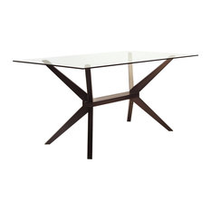 Inmod   Magna Glass Dining Table, Coffee   Dining Tables