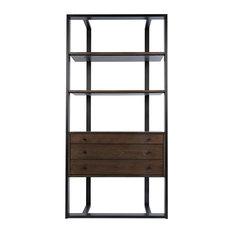 Cfc Furniture, Hamburg Bookcase, Walnut/Steel