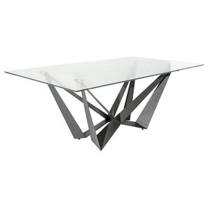 Libelo Modern Tempered Glass Dining Table