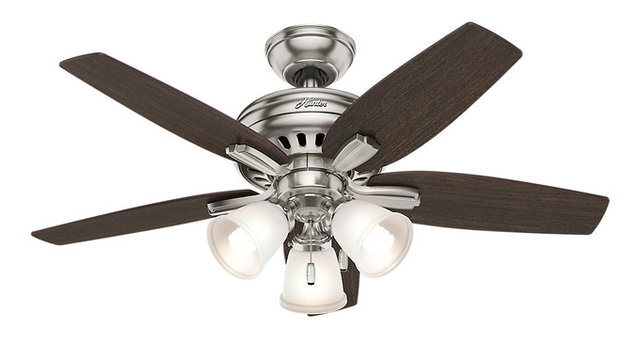 Hunter 42 newsome with 3 lights brushed nickel ceiling fan with hunter 42 newsome with 3 lights brushed nickel ceiling fan with light aloadofball Gallery