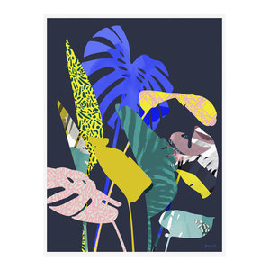 """Carnival Is Coming"" Tropical Art Print, Print Only, 50x70 cm"