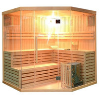 Aleko 5-6 Person Hemlock Wood Sauna SEA5JIU With ETL Heater