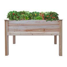 """48x30"""" Wooden Raised Garden Bed"""