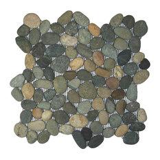 """Colin Locke - 12""""x12"""" Bali Ocean Pebble Tile - Mosaic Tile"""