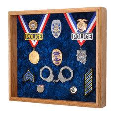 Law Enforcement Memorabilia Shadow Box Display