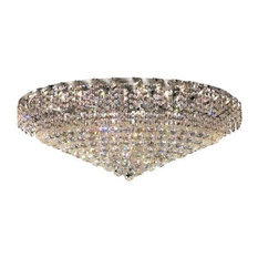 Elegant Lighting ECA1F36C Belenus 28-Light, Single-Tier Flush Mount Crystal Chan