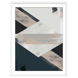 """Simi"" Abstract Art Print, White Framed, 50x70 cm"