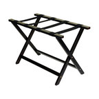 "Heavy Duty 30"" Extra Wide Luggage Rack, Espresso"