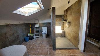 Farmhouse Renovation Pizarra/Malaga- New Master Bathroom