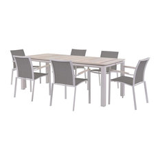 Timber White 7-Piece Dining Set, White