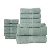 Bano Senses Egyptian Cotton 12-Piece Towel Set, Surf