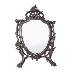 Morning Glory Mirror in Antique Bronze