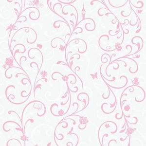 Pink York Wallcoverings Disney Kids Dk5967 Perfect Princess