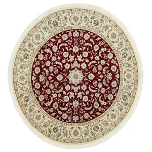 Nain 9La Persian Rug, Round Hand-Knotted, 200x200 cm
