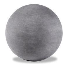 Garden Sphere, Lead Gray, 24x24x24