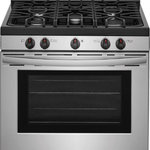 Frigidaire - Frigidaire 30 Inch Freestanding All Gas Range in, Stainless Steel - Frigidaire FFGF3054TS 30 Inch Freestanding All Gas Range with Natural Gas, 5 Sealed Burners, 5 cu. ft. Total Oven Capacity, Continuous Grates, Self-Cleaning Mode, Viewing Window, Storage Drawer, Continuous Grates, CSA Certified, Low Simmer Burner, Gas Burners, Self-Cleaning, Storage Drawer, Cast Iron Grates, Timer, Ready-Select Controls, Timed Cook Option, Quick Boil Element, Delay Clean Option, Extra-Large Window in Stainless Steel.