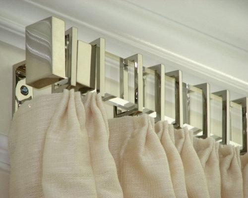 rectangular acrylic drapery hardware curtain rods