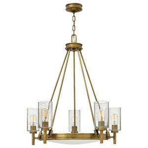 5-Light Chandelier, Brass