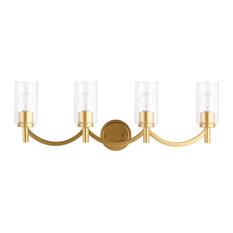 Devora 4-Light Bathroom Vanity Fixture, Antique Gold