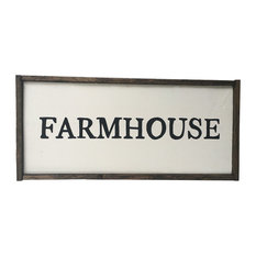"""Farmhouse"" Handcrafted Wooden Sign"