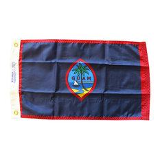 """Guam, 12""""x18"""" Nylon Flag"""