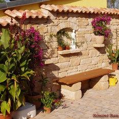 mediterrane gartenb nke parkbank sitzbank design f r. Black Bedroom Furniture Sets. Home Design Ideas