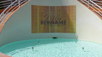 Réalisation d'un mur au bord d'une piscine