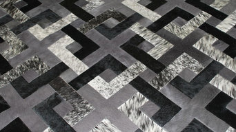 Connection Design Rug in Cowhide