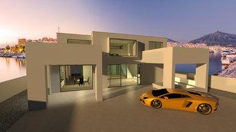 3D Visualisierung einer Villa