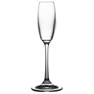 Clear Lead Crystal Liqueur Glasses, Tall, Set of 6