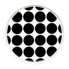Dido Spotty Plates, Black, Set of 2