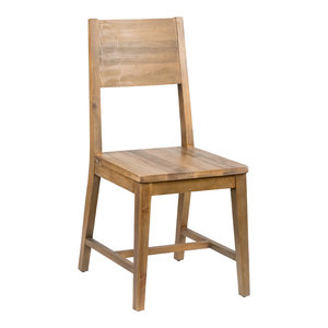 Norman Reclaimed Pine Dining Chair, Natural Multi-Tone by Kosas Home