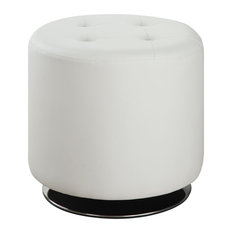Round Tufted Ottomans And Footstools Houzz