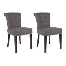 Safavieh   Safavieh Sinclair Ring Chair, Set Of 2, Charcoal   Dining Chairs