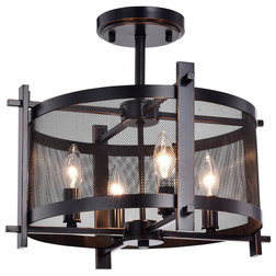Industrial Flush-mount Ceiling Lighting by Edvivi LLC