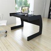 Corbrands Workspace 44-inch Desk, Midnight Black