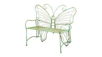 Evergreen Enterprises Verdi Butterfly Metal Bench