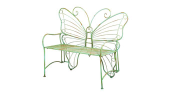 Evergreen Enterprises Verdi Butterfly Metal Bench