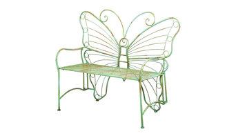 Verdi Butterfly Metal Bench