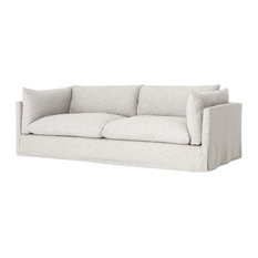 "Zin Home - Loft Coastal Beach Gray Slipcover Sofa 90"" - Sofas"