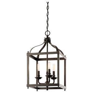 Indoor Pendant 3-Light, Olde Bronze