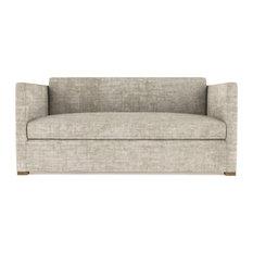 Madison 5' Crushed Velvet Sofa Oyster Extra Deep