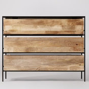 Roland chest of drawers  in mango wood and black - SN15