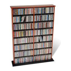 Prepac Furniture   Prepac Double Width CD DVD Wall Storage In Cherry And  Black   Media